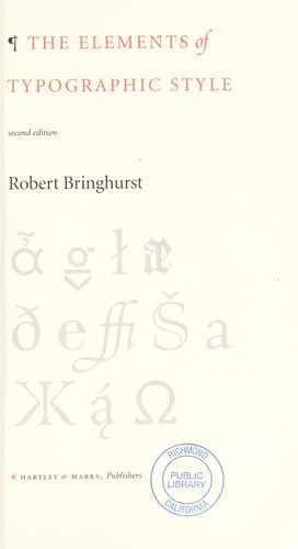 Download The elements of typographic style