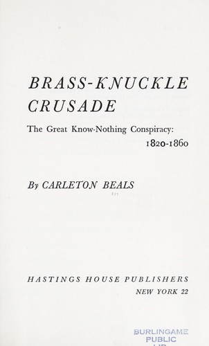 Brass-knuckle crusade