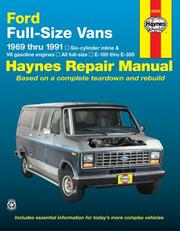 Ford full-size vans automotive repair manual by John Harold Haynes