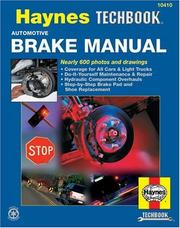 The Haynes automotive brake manual by John Harold Haynes