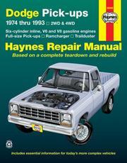 Haynes Dodge Full-Size Pickup, 1974-1993 PDF