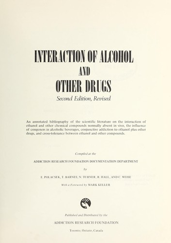 Interaction of alcohol and other drugs.