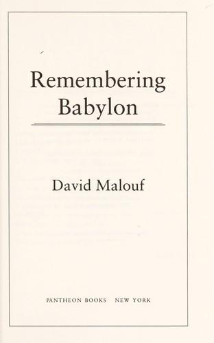 Remembering Babylon
