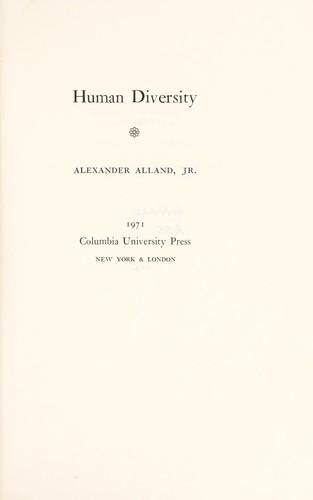 Human diversity.