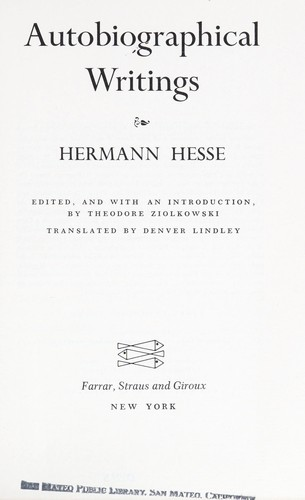 a review of hermann hesses writing style in demian Siddhartha, demian flag like see review sep 08 hermann hesse was a german-swiss poet, novelist, and painter in 1946.