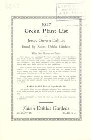 1927 Green plant list of Jersey grown dahlias