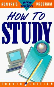 Cover of: How to study by Ronald W. Fry