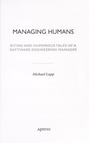 Cover of: Managing Humans | Michael Lopp