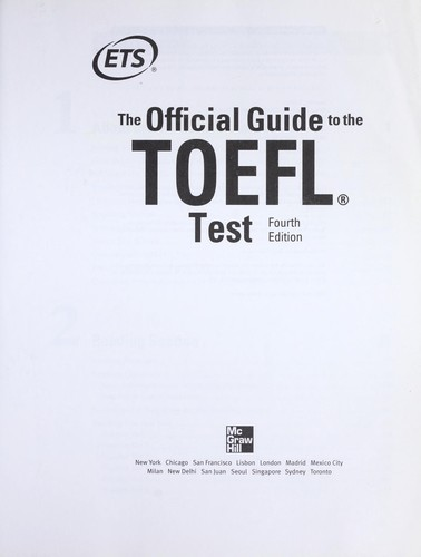 Official Guide New Toefl Ibt 5th Edition