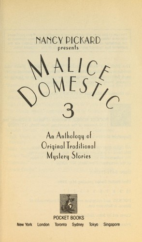 Nancy Picard presents Malice domestic 3 by