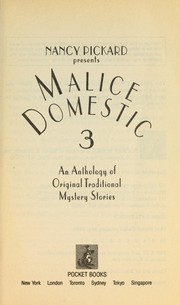 Cover of: Nancy Picard presents Malice domestic 3 |