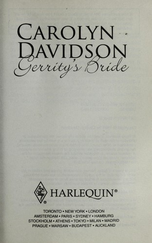 Gerrity's bride by Carolyn Davidson