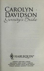 Cover of: Gerrity's bride | Carolyn Davidson