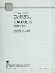 Cover of: Study Guide for Single Variable Calculus (Mathematics, No 1)