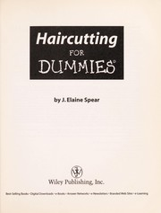 Cover of: Haircutting for dummies | J. Elaine Spear