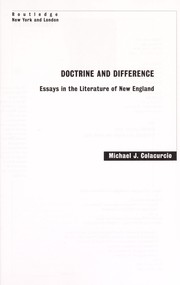 Doctrine and difference : essays in the literature of New England