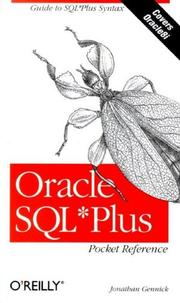 Cover of: Oracle SQL*Plus by Jonathan Gennick