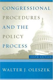 Congressional procedures and the policy process PDF
