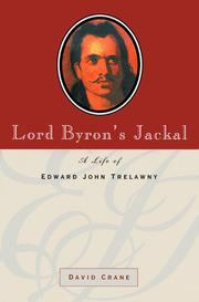 Lord Byron's jackal by Crane, David.