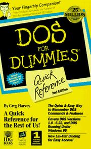 DOS for dummies quick reference PDF