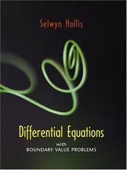 Cover of: Differential Equations with Boundary Value Problems