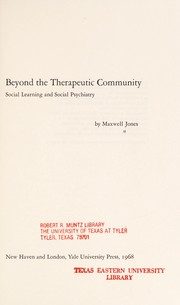 Beyond the therapeutic community