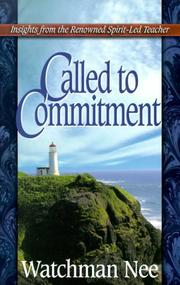 Called to Commitment (Life Messages of Great Christians Series)