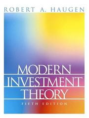 Modern investment theory by Robert A. Haugen