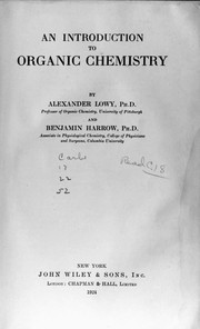 Cover of: An introduction to organic chemistry | Alexander Lowy
