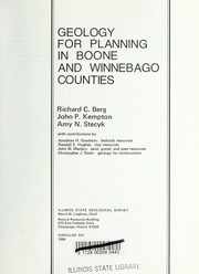 Geology for planning in Boone and Winnebago counties