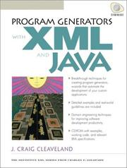 Program Generators with  XML and Java by J. Craig Cleaveland