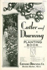 Cutler and Downing Co. planting book for 1931