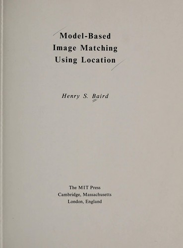 Model-based image matching using location by Henry S. Baird
