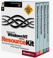 Microsoft Windows NT resource kit : for Widows NT workstation and Windows NT server version 4.0