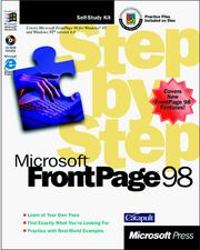 Cover of: Microsoft FrontPage 98 step by step by Catapult, Inc