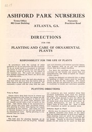 Directions for the planting and care of ornamental plants