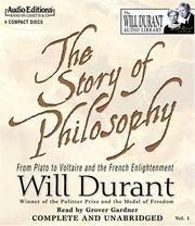 Cover of: The Story of Philosophy by Durant, Will