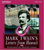 Cover of: Mark Twain&#39;s Letters from Hawaii by Mark Twain