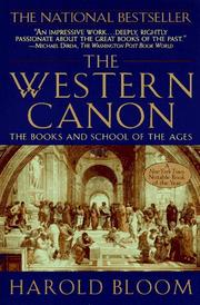 The Western canon by Bloom, Harold.