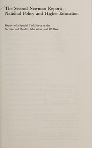 Cover of: The Second Newman Report | Education Health, Welfare Department