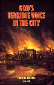 God&#39;s terrible voice in the city by Thomas Vincent