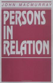 Persons in relation by Macmurray, John