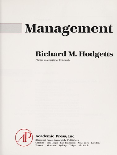 Management by Richard M. Hodgetts