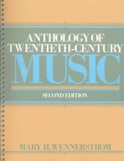 Anthology of Twentieth Century Music PDF