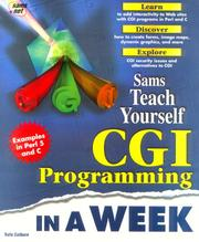 Sams&#39; teach yourself CGI programming in a week by Rafe Colburn