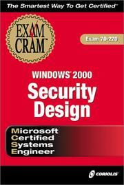 MCSE Windows 2000 Security Design Exam Cram (Exam: 70-220) PDF