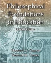 Philosophical foundations of education by Howard Ozmon