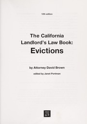 California Landlords Law Book, The: Evictions