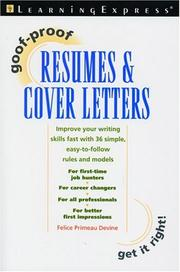 Goof-Proof Resumes & Cover Letters (Goof-Proof) PDF