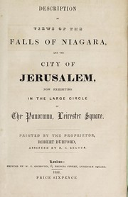 Description of views of the falls of Niagara and the city of Jerusalem